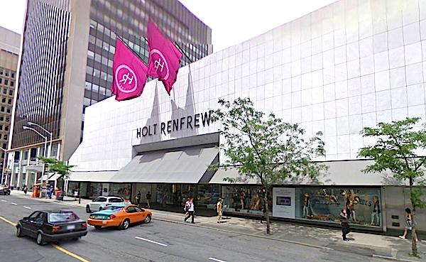 Magazinul Holt Renfrew de pe Strada Bloor din centrul Toronto-ului